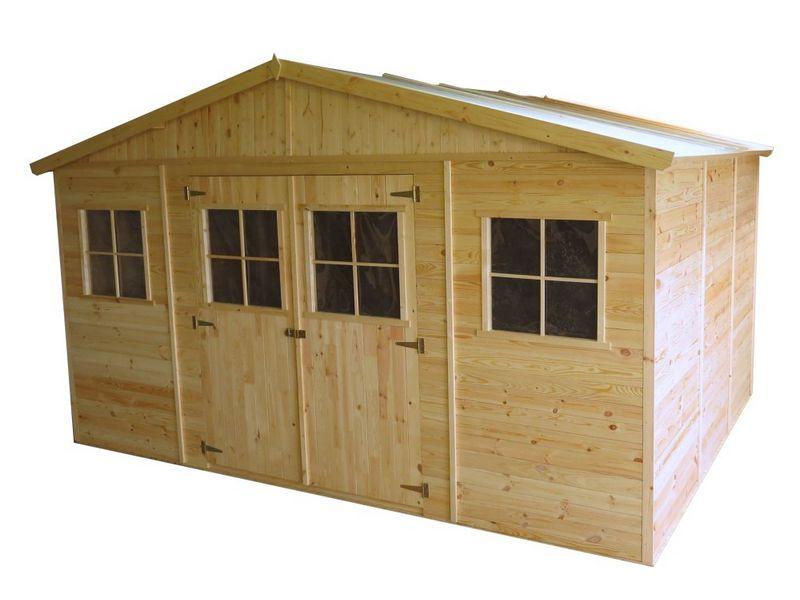 Casette da giardino casetta in legno 400x300x246h cm - Casetta in legno da giardino bianca ...