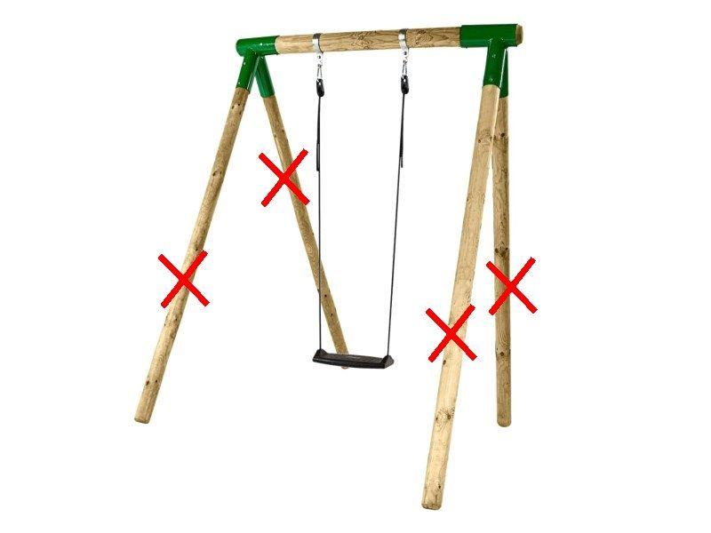 Ancoraggi accessori elementi costruzione kit altalena for Altalena legno usata